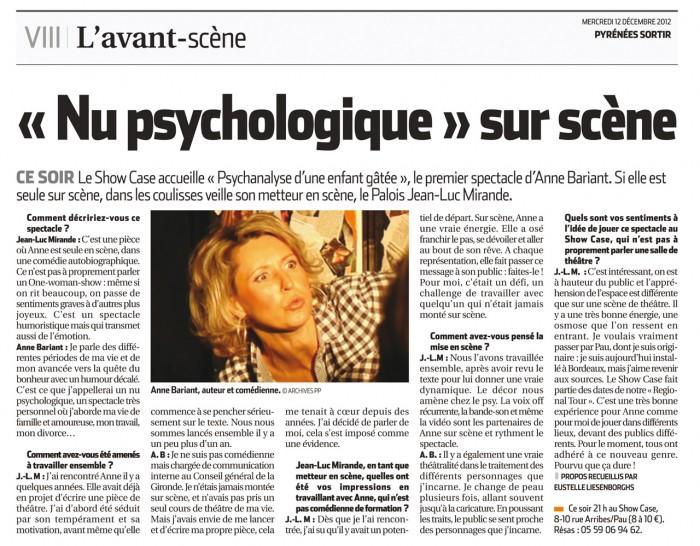 Articles Pyrénées 12 décembre 2012